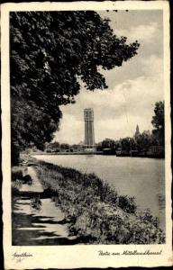 Ak Genthin am Elbe Havel Kanal, Partie am Mittellandkanal