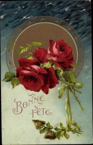 Ak Glückwunsch Geburtstag, Bonne Fete, Rosen