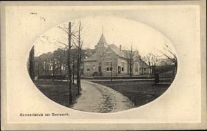 Passepartout Ak Doorwerth Gelderland, Gemeentehuis