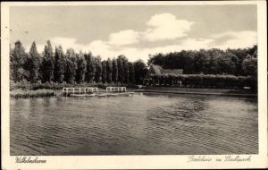 Ak Wilhelmshaven in Niedersachsen, Bootshaus im Stadtpark