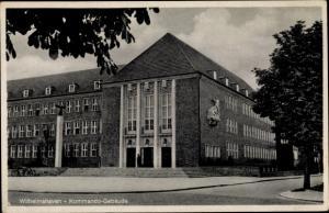 Ak Wilhelmshaven in Niedersachsen, Kommandogebäude