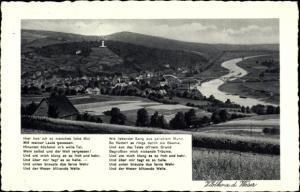 Ak Vlotho an der Weser, Fernsicht zum Ort