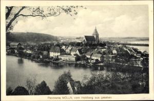 Ak Mölln im Herzogtum Lauenburg, Ort vom Heidberg aus gesehen