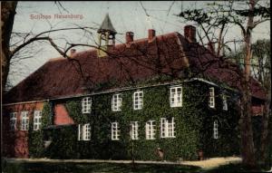 Ak Neuenburg Zetel in Friesland, Schloss Neuenburg, Efeu bewachsen