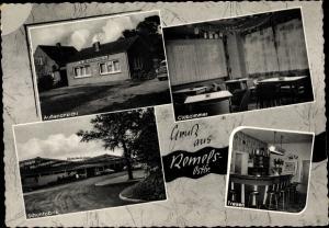Ak Remels Uplengen in Ostfriesland, Gasthof zum goldenen Schuh, Schuhfabrik