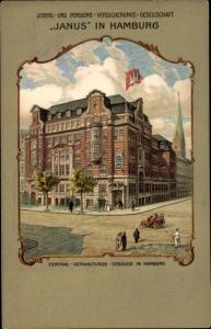 Passepartout Ak Hamburg Altstadt Mitte, Janus Versicherungsgesellschaft, Verwaltungsgebäude