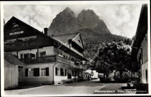 Ak Hammersbach Grainau in Oberbayern, Hotel Höllentalklamm