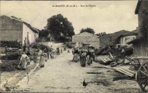 Ak Saint Martin Meurthe et Moselle, Rue de l´Église