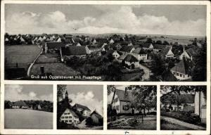 Ak Oggelsbeuren Attenweiler Baden Württemberg, Blick auf Ortschaft und Umgebung