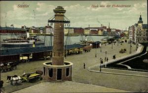 Ak Szczecin Stettin Pommern, Blick von der Hakenterasse