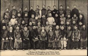 Ak L'Eveque de Chungking et ses Pretres chinois, chinesische Geistliche