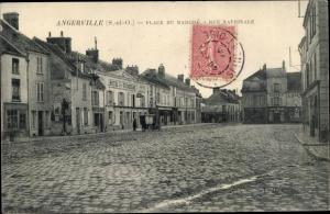 Ak Angerville Essonne, Place du Marché