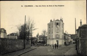 Ak Colombes Hauts de Seine, Rue des Voies du Bois et Rue Halphen