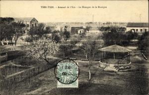 Ak Tianjin Tientsin China, Arsenal de l'Est, Kiosque de la Musique