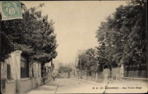 Ak Colombes Hauts de Seine, Rue Victor Hugo