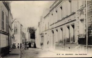 Ak Colombes Hauts de Seine, Rue Saint Denis