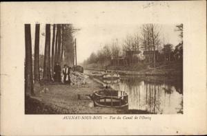 Ak Aulnay sous Bois Seine Saint Denis, Vue du Canal de l´Ourcq