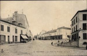 Ak Bièvres Essonne, Place du Marché