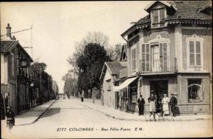 Ak Colombes Hauts de Seine, Rue Felix Faure