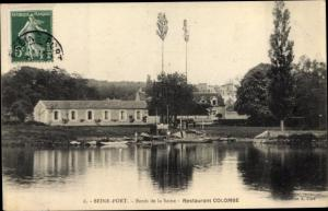 Ak Seine Port Seine et Marne, Bords de la Seine