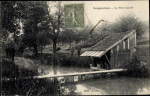 Ak Soignolles en Brie Seine et Marne, Le Petit Lavoir