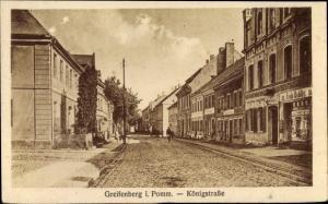 Ak Gryfice Greifenberg Pommern, Königstraße, Geschäft Erich Bublitz