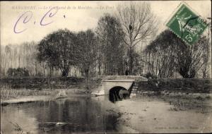 Ak Rangiport Gargenville Yvelines, Confluent de la Mauldre, Le Pont