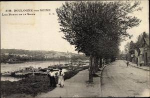 Ak Boulogne sur Seine Hauts de Seine, Bords de la Seine