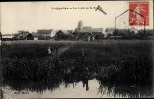 Ak Soignolles en Brie Seine et Marne, Les Bords de la Rivière