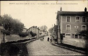 Ak Pont aux Dames Seine et Marne, La Grande Rue, Rue Nationale