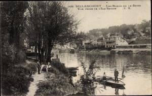 Ak Billancourt Hauts de Seine, Les Bords de la Seine, Vue prise de l´Île Seguin