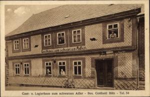 Ak Stützerbach Ilmenau Thüringer Wald, Gast-und Logierhaus Zum Schwarzen Adler, Fahrrad