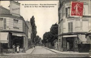 Ak Bois Colombes Hauts de Seine, Rue des Chambards, près de la Rue des Bourguignons