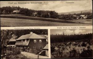 Ak Ulrichsberg in Oberösterreich, Berg Bärenstein im Böhmerwald, Gastwirtschaft Simon Schröpfer