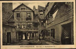 Ak Braunschweig in Niedersachsen, Alter Hof in der Ägydienstraße