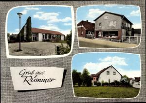 Ak Rümmer Groß Twülpstedt in Niedersachsen, Schule, Lebensmittelladen, Wohnhaus