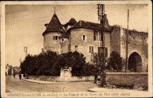 Ak Mennetou sur Cher Loir et Cher, Prieuré et Porte de l´Est