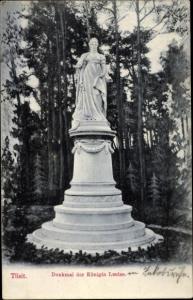 Ak Sowjetsk Tilsit Ostpreußen, Denkmal der Königin Louise
