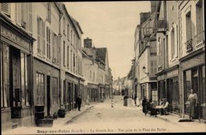 Ak Bray sur Seine Seine et Marne, La Grande Rue, Commerces