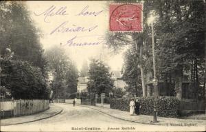 Ak Saint Gratien Val d'Oise, Avenue Mathilde