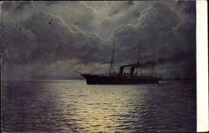 Künstler Ak Kalmykoff, G., O., Stille Fahrt, Riante traverse, Calm voyage, TSN RM No 7