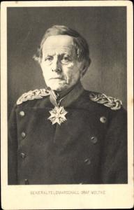 Künstler Ak Generalfeldmarschall Helmuth Johannes Ludwig Graf von Moltke