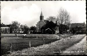 Ak Gelselaar Gelderland, Ortspartie mit Kirche, Kerk