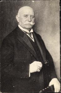 Ak Ferdinand Graf von Zeppelin, Portrait, Luftschiffkonstrukteur