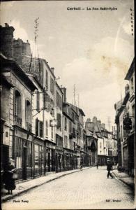 Ak Corbeil Essonne, Rue Saint Spire