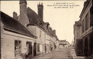 Ak Montoire Loir et Cher, Maison du XVe siecle, dite du Jeu de Quilles, rue Saint Oustrille