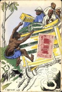 Künstler Ak Afrikanische Arbeiter, Transportlaster, L'apprenti calé