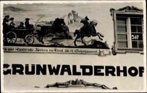 Ak Innsbruck in Tirol, Grünwalder Hof, Fassade