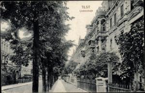 Ak Sowjetsk Tilsit Ostpreußen, Lindenstraße