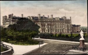 Ak York Yorkshire, Station Hotel